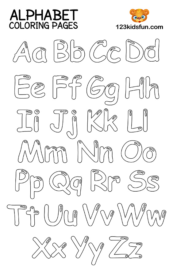 free coloring letters free printable alphabet coloring pages for kids 123 kids free letters coloring
