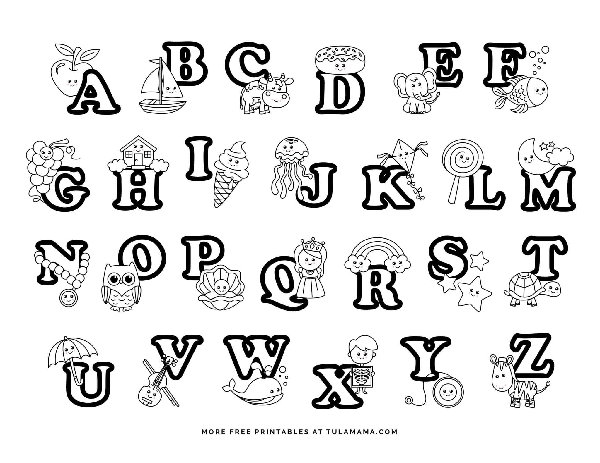 free coloring letters fun and easy to print abc coloring pages for preschoolers letters coloring free