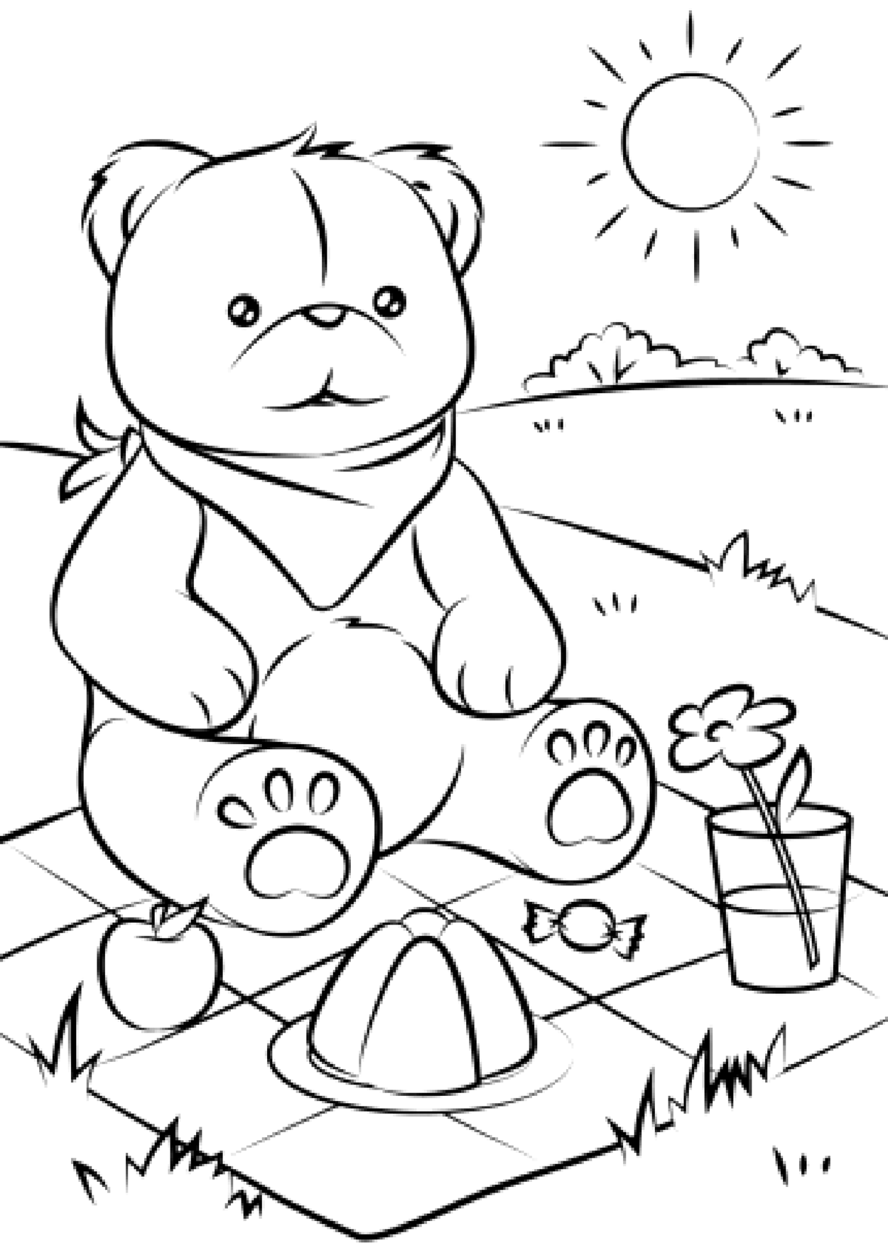 free coloring pages bears care bear coloring pages to download and print for free free coloring bears pages