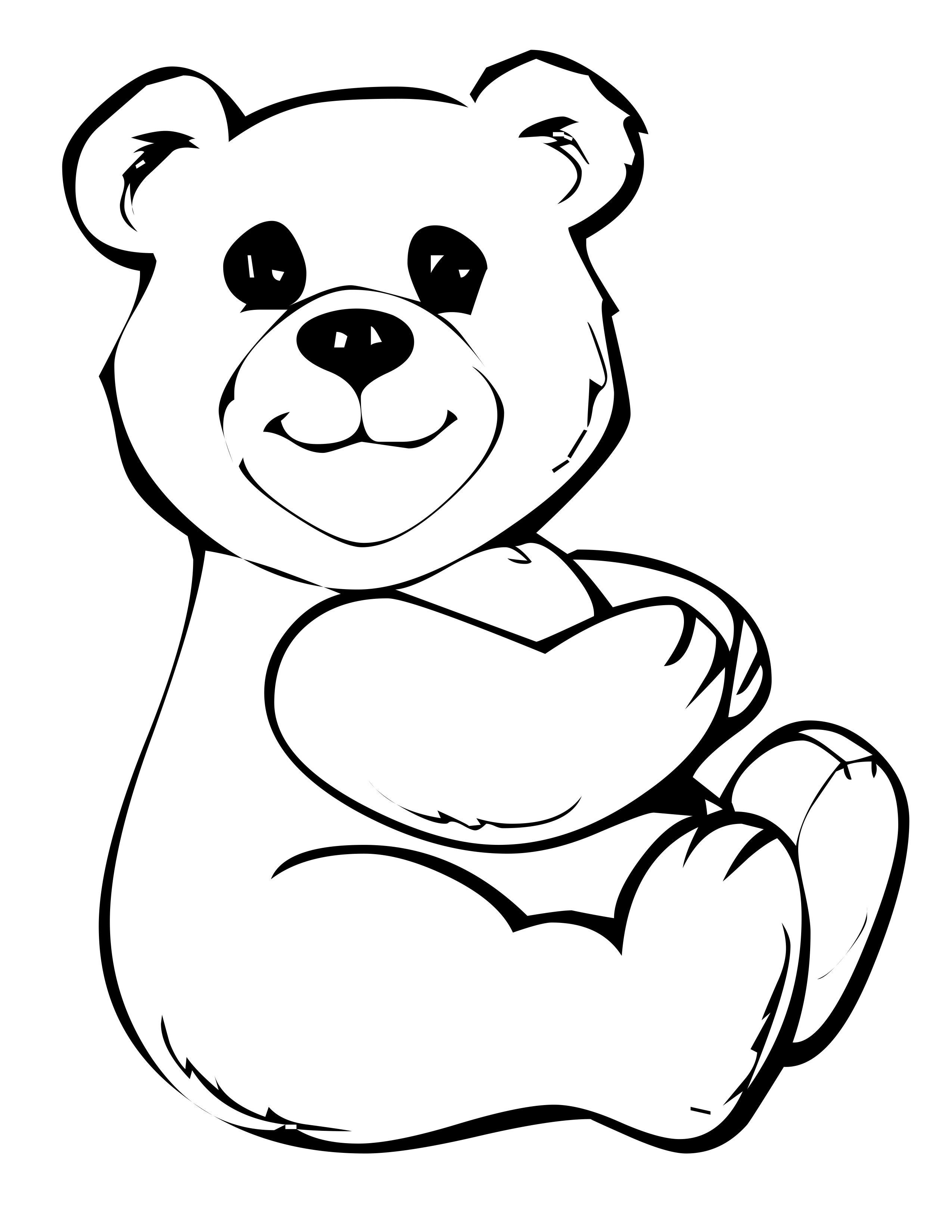 Free coloring pages bears