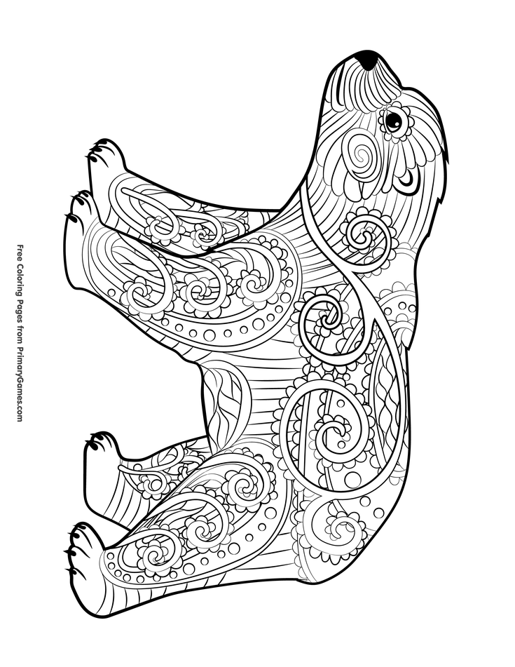 free coloring pages bears polar bear coloring pages to download and print for free coloring free pages bears