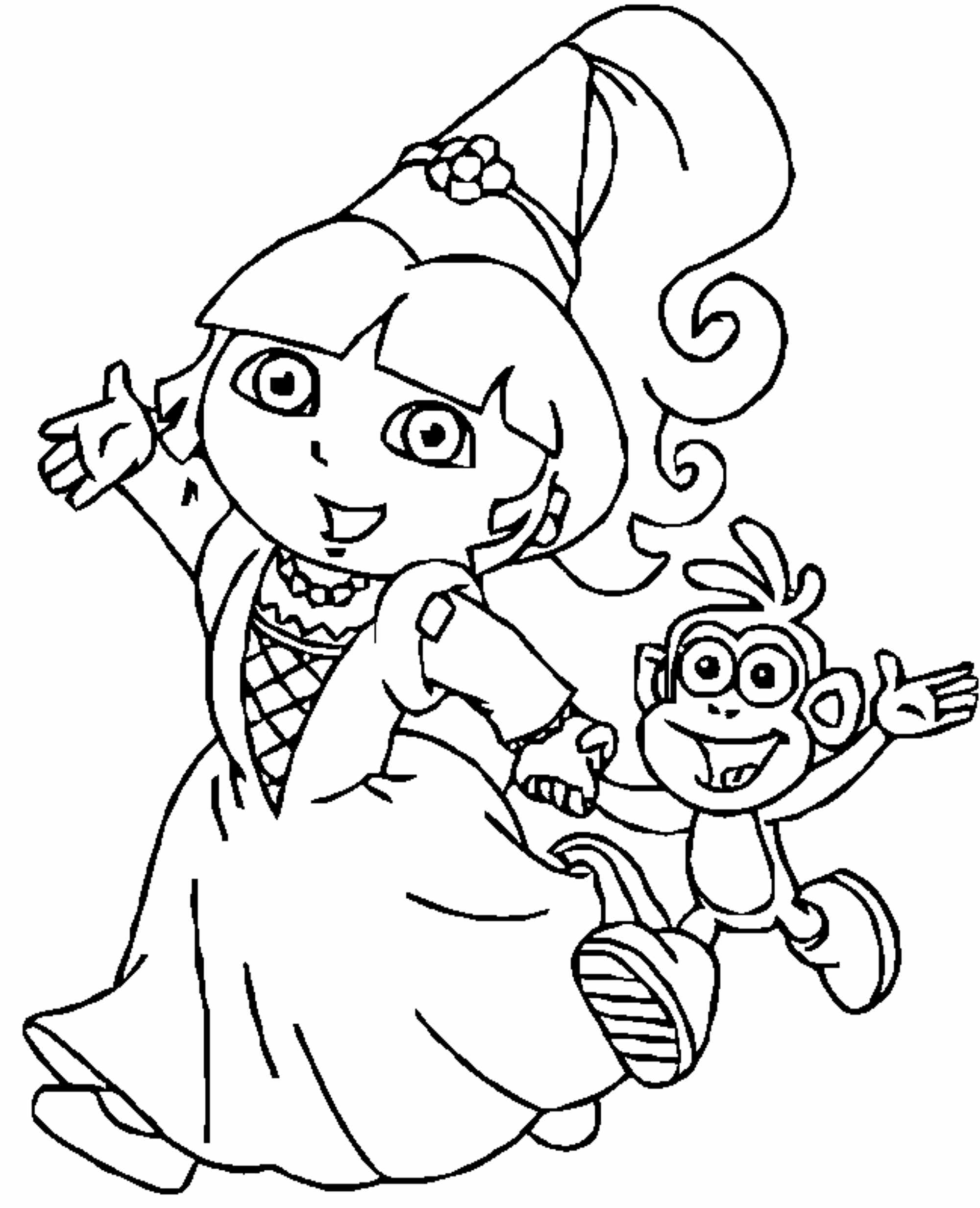 free coloring pages dora dora coloring pages free printables momjunction dora free coloring pages
