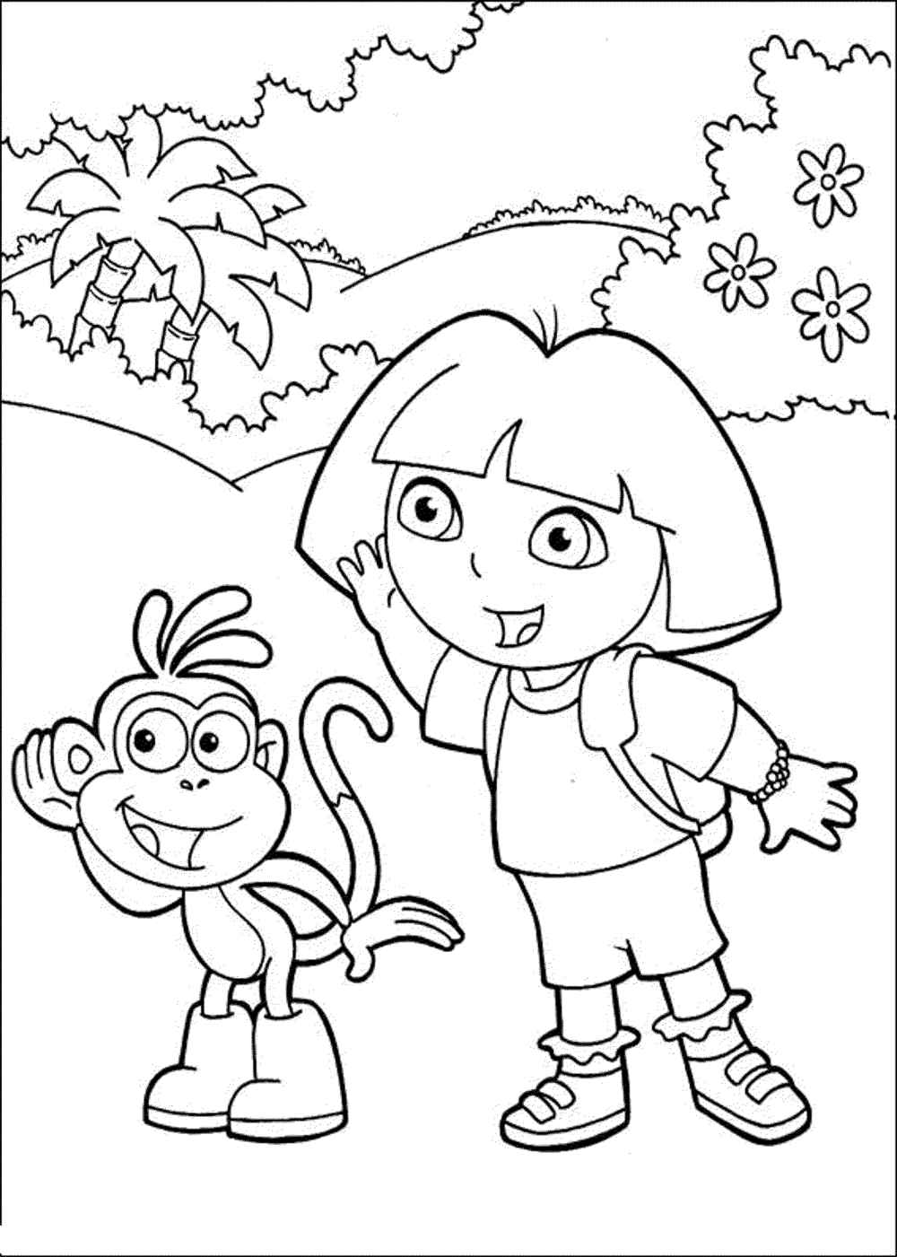 free coloring pages dora dora coloring pages getcoloringpagescom free coloring dora pages