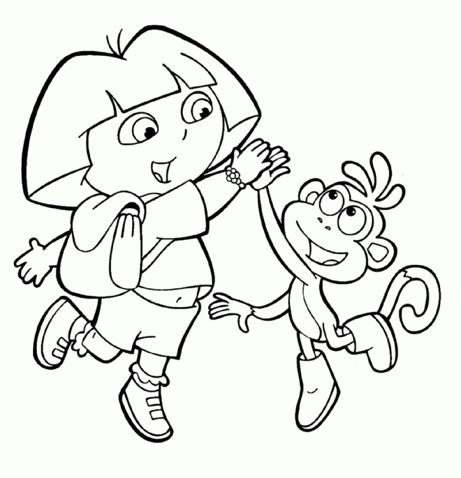 free coloring pages dora get this printable dora the explorer coloring pages online free dora pages coloring