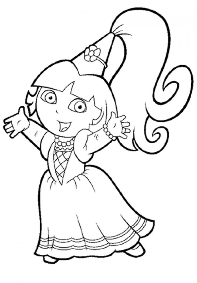 free coloring pages dora new princess coloring pages online games top free pages coloring dora free