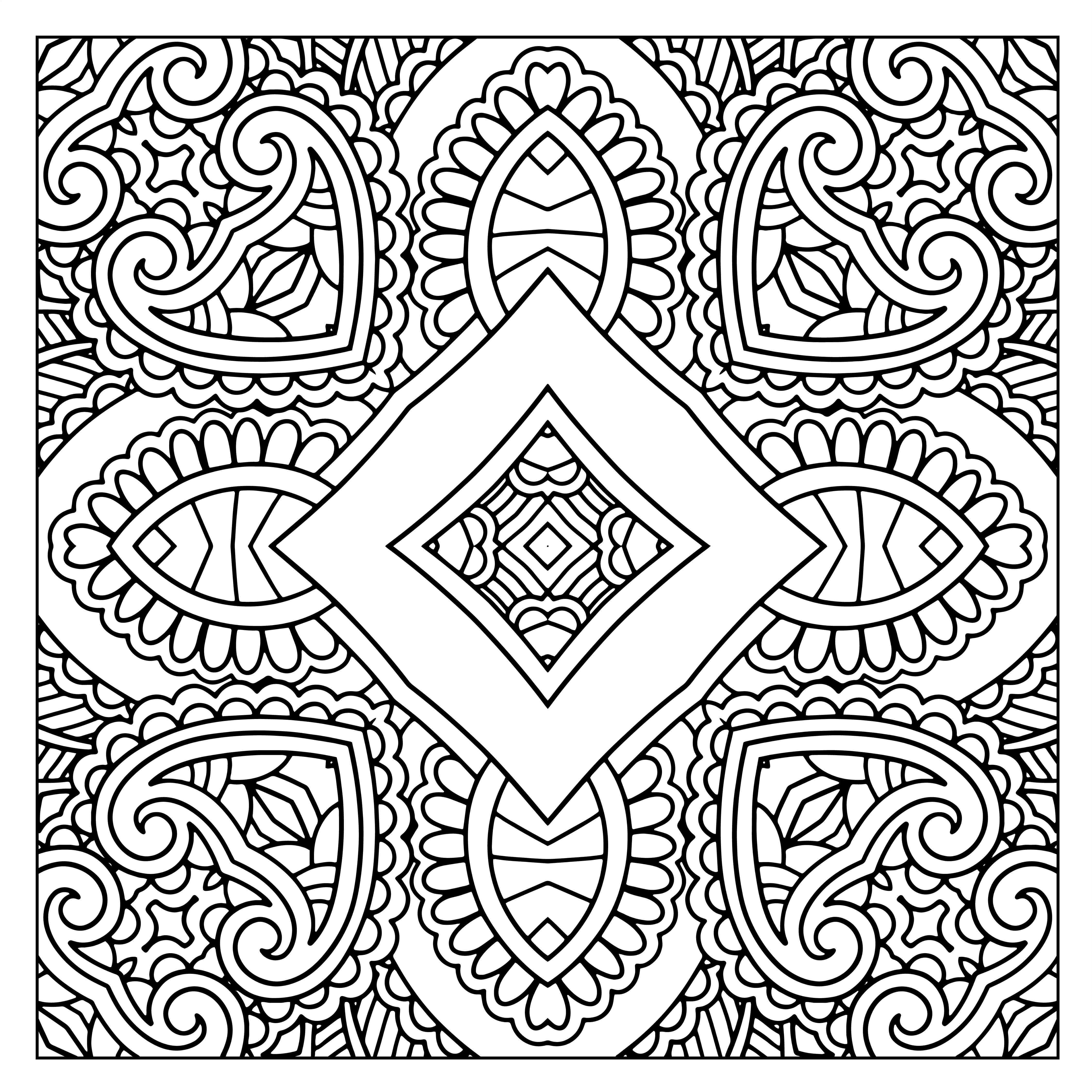 free design coloring pages 50 free square patterns kaleidoscope adult coloring design pages coloring free