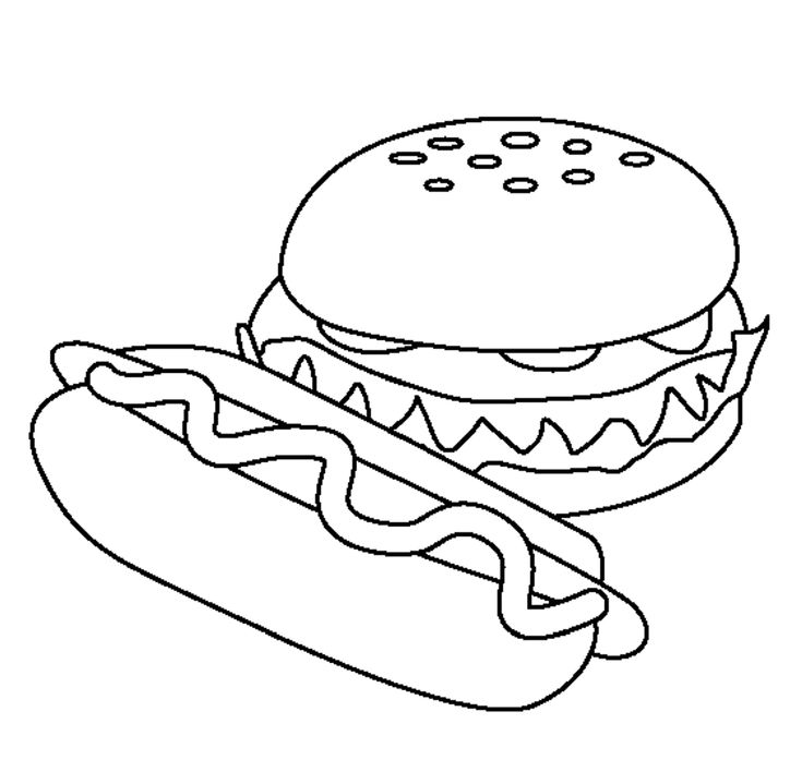 free food coloring pages to print food hamburger models free to coloring pages food print