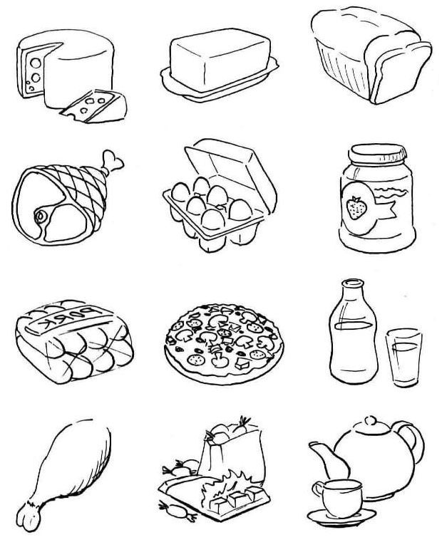 free food coloring pages to print free printable food coloring pages for kids food to free pages print coloring