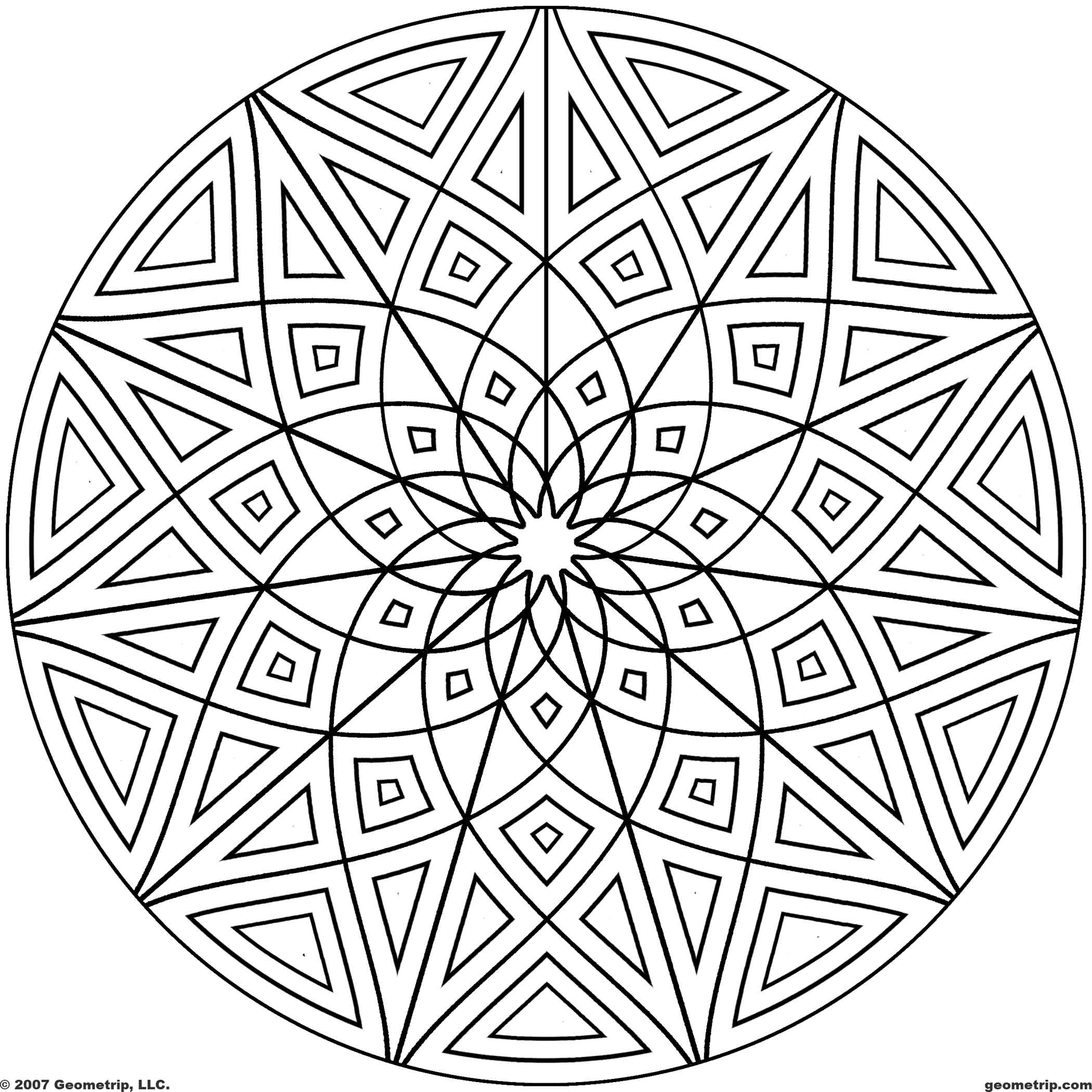 free geometric pattern coloring pages free printable geometric coloring pages for kids free pages geometric pattern coloring 1 1
