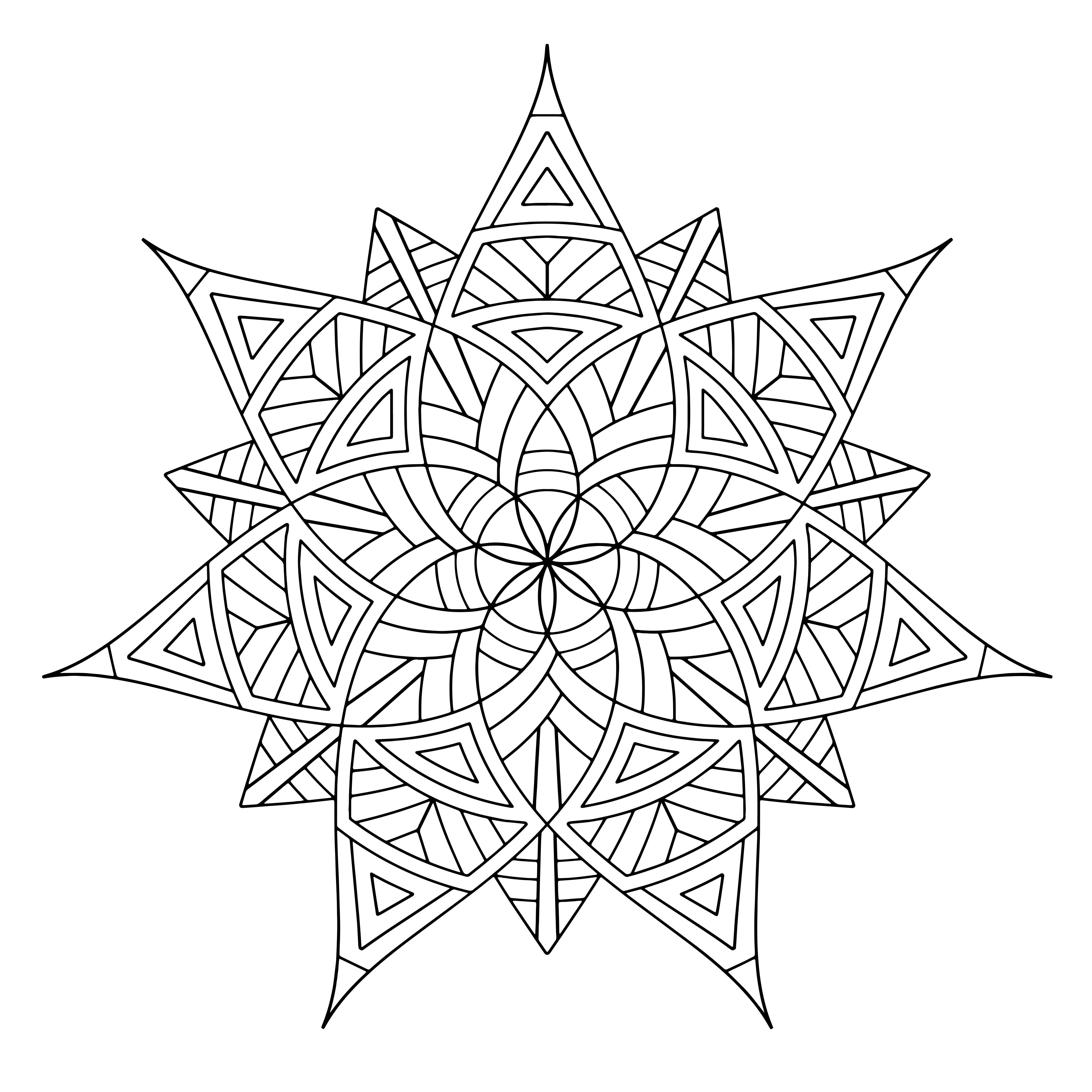 Free geometric pattern coloring pages