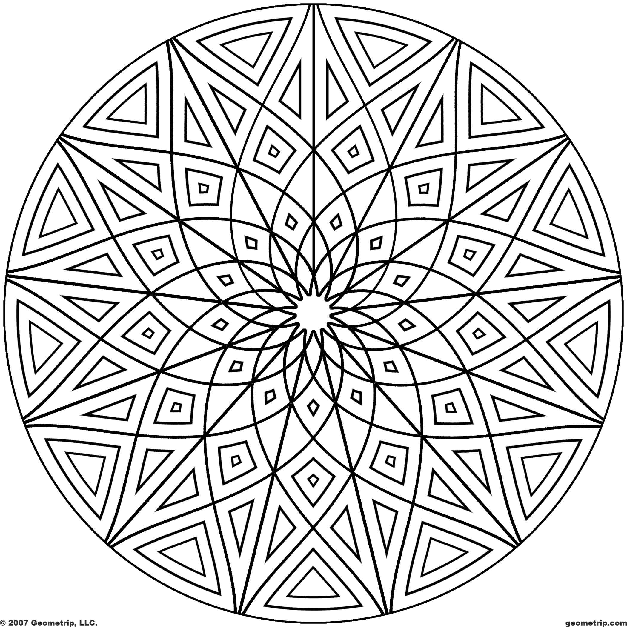 free geometric pattern coloring pages printable geometric patterns geometripcom free pattern pages coloring geometric free