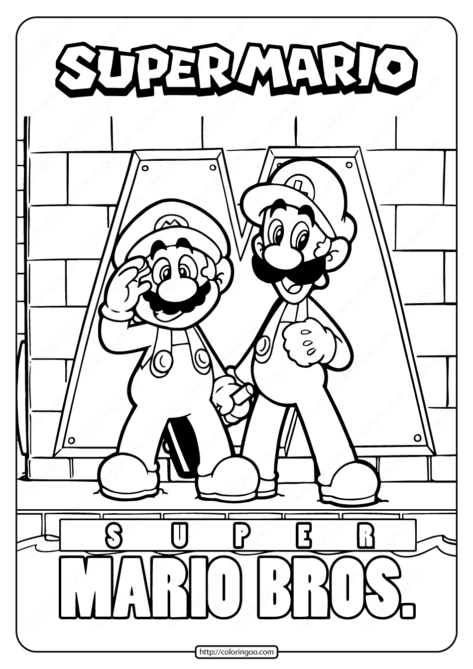 free mario coloring pages free printable super mario pdf coloring page free mario pages coloring