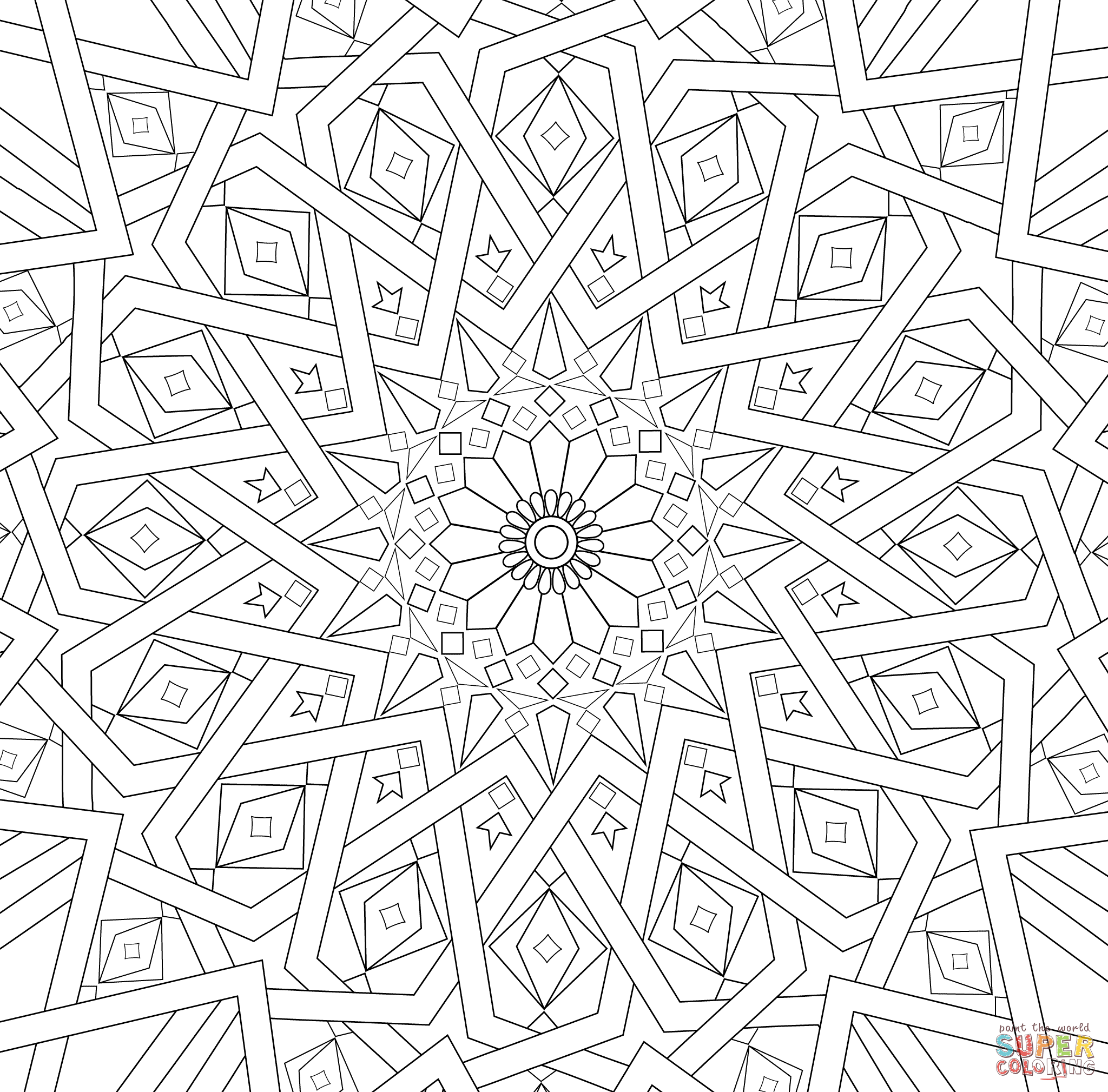 Free mosaic patterns to color