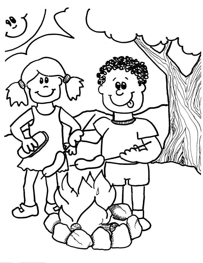 free printable coloring pages for kids camping campfire coloring activity camping theme color for camping coloring printable kids free pages