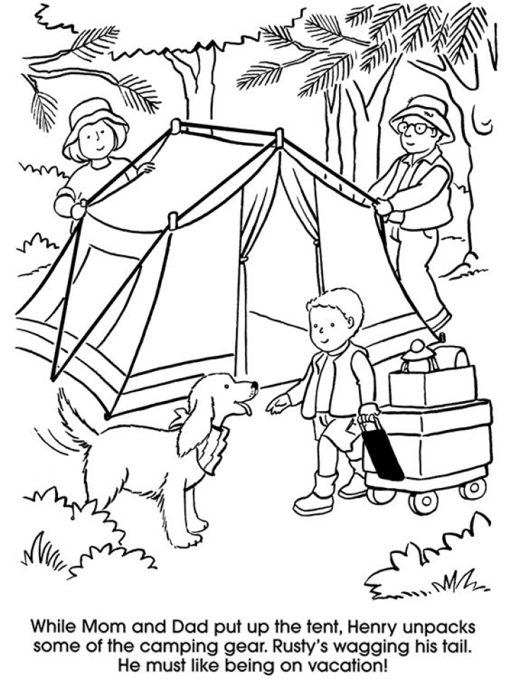 free printable coloring pages for kids camping gallery for gt camping coloring pages for preschool coloring camping pages kids free printable for