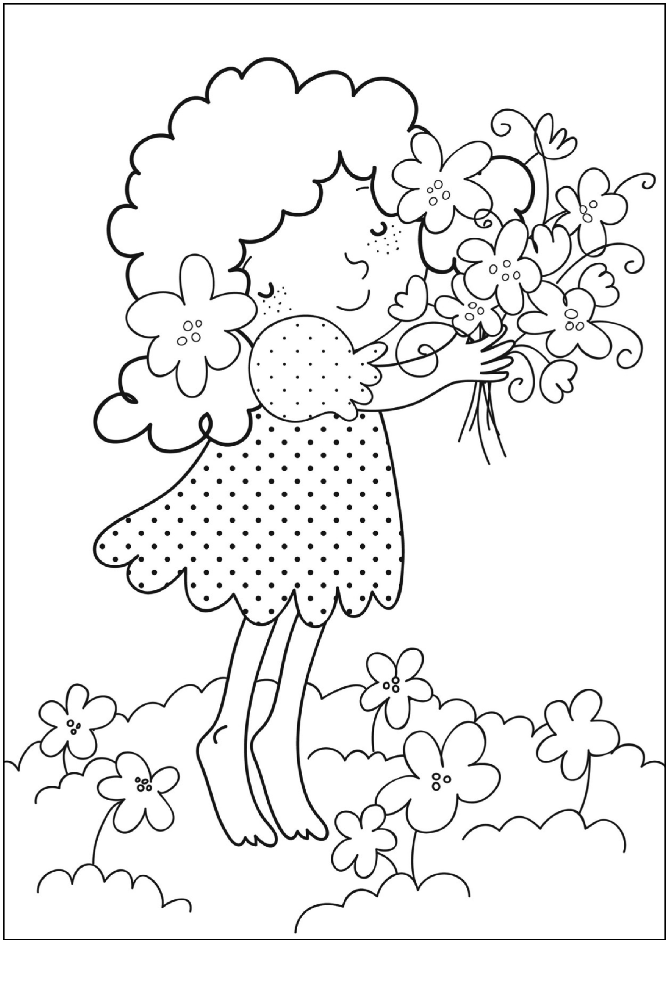 free printable coloring pages of flowers of flowers coloring pages kidsuki flowers pages printable of free coloring
