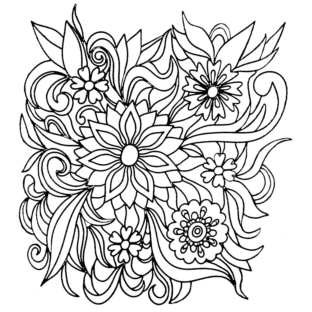 free printable coloring pages of flowers spring flower coloring pages to download and print for free printable coloring of flowers free pages