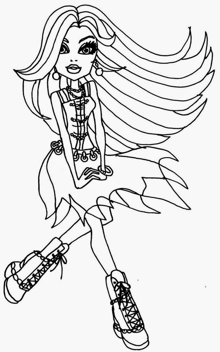 free printable monster high coloring pages coloring pages monster high coloring pages free and printable high coloring free pages monster printable