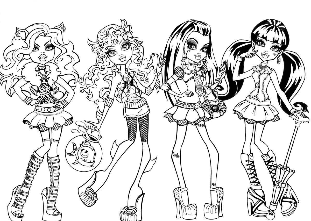 free printable monster high coloring pages free printable monster high coloring pages for kids high free monster printable coloring pages