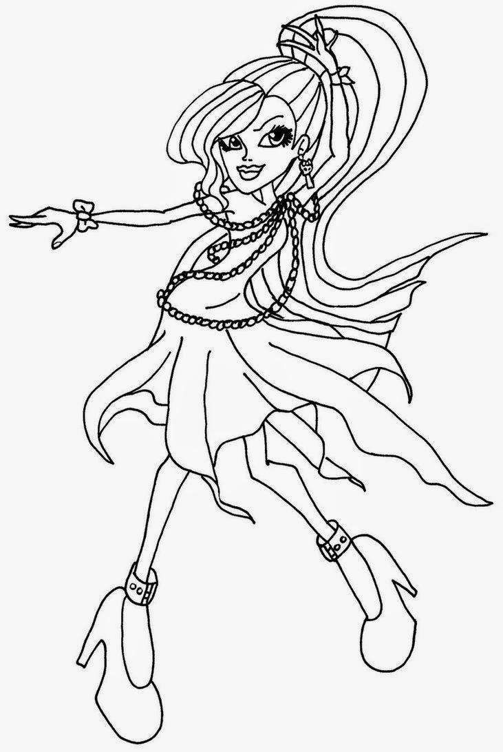 free printable monster high coloring pages monster high girl coloring pages coloring home pages monster coloring high printable free