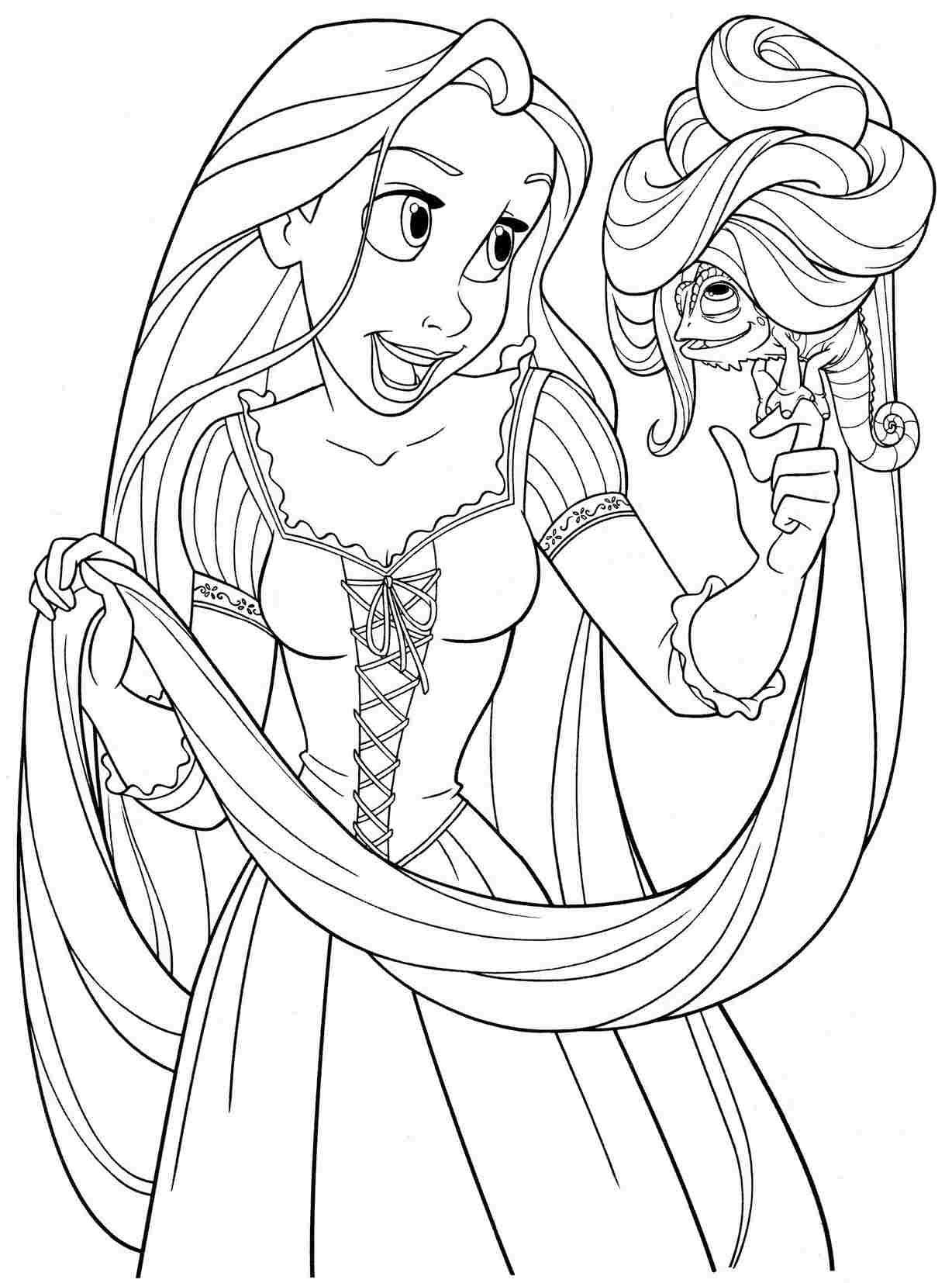 free printable rapunzel coloring pages rapunzel tangled coloring pages at getcoloringscom free rapunzel printable pages free coloring