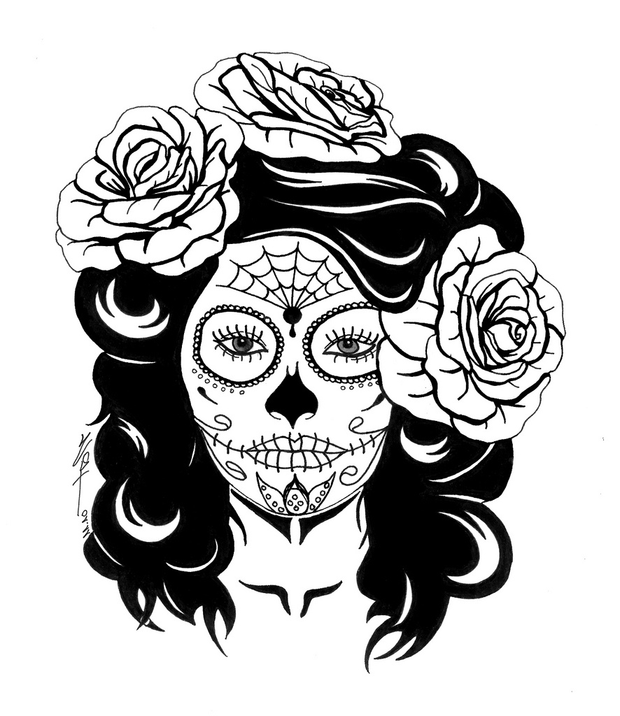 free printable sugar skull coloring pages coloring pages tumblr free download on clipartmag skull sugar coloring pages printable free
