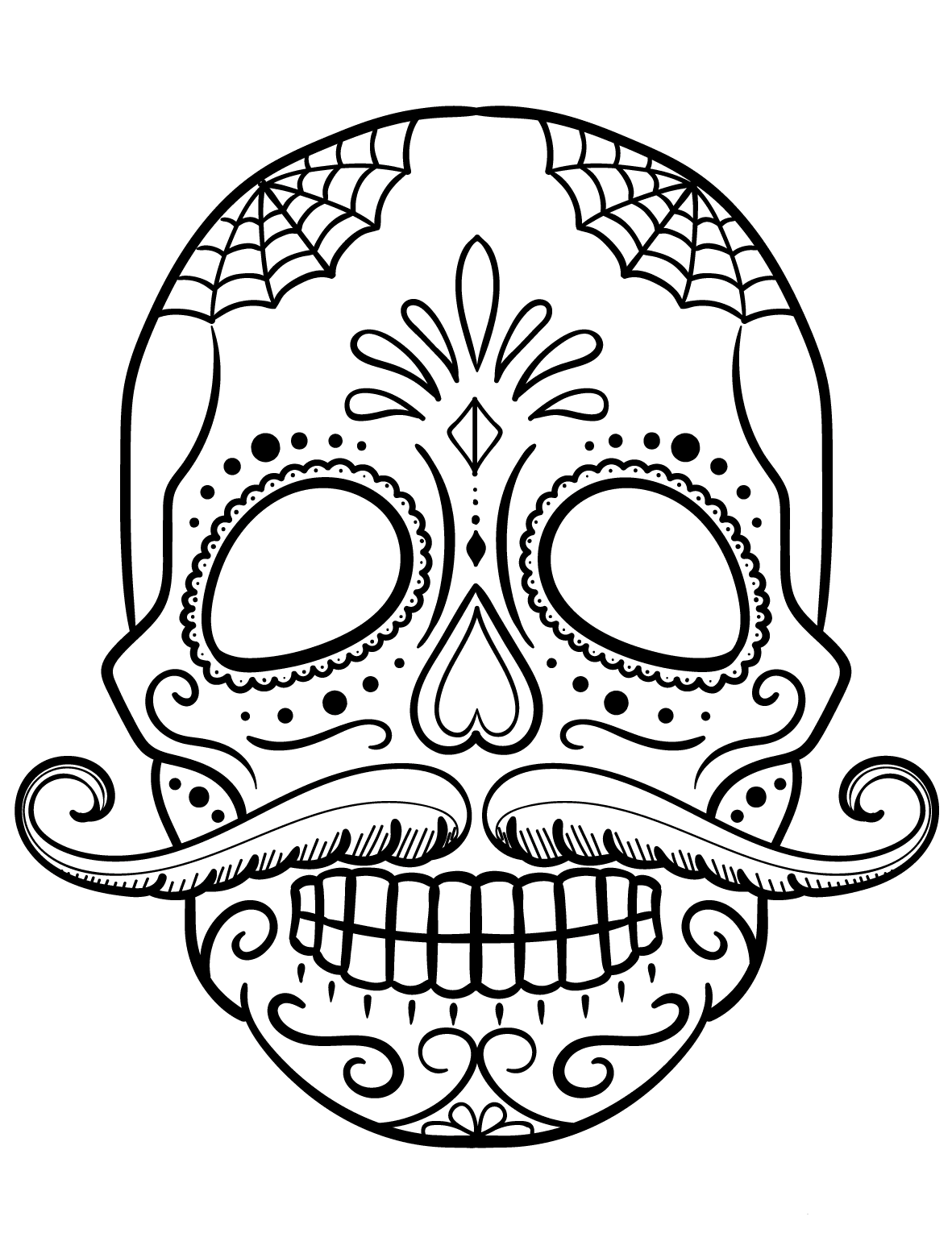 free printable sugar skull coloring pages day of the dead sugar skull coloring page free printable printable free pages skull coloring sugar