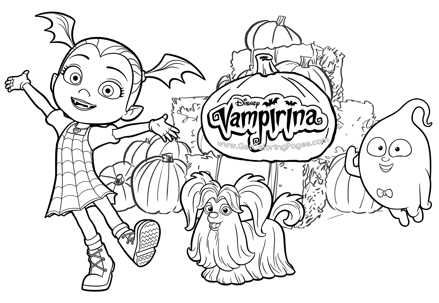 free printable vampirina coloring pages vampirina and friends popular easy coloring pages on log printable vampirina free coloring pages