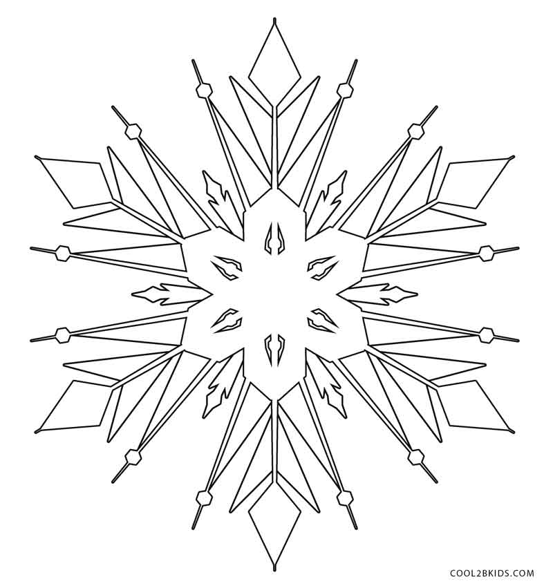 Free snowflake coloring pages