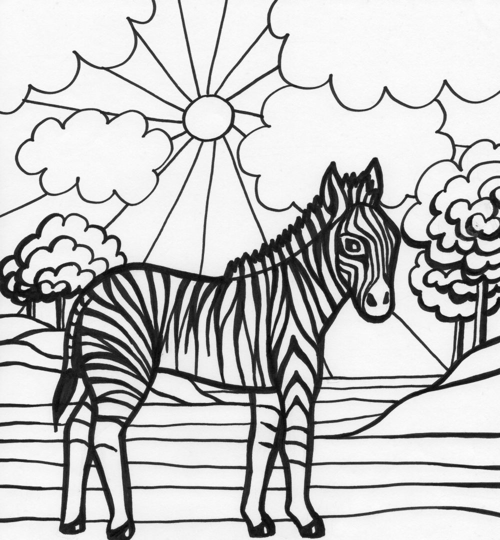 free zebra coloring pages to print printable zebra coloring page free pdf download at http free zebra pages coloring print to