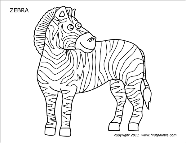 free zebra coloring pages to print zebra coloring pages free printable kids coloring pages pages zebra free print to coloring