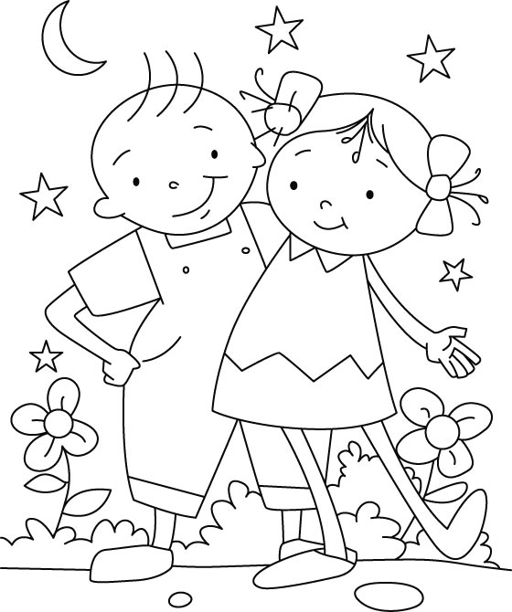 friends coloring page best friend coloring pages to download and print for free friends coloring page