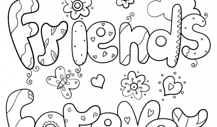 friendship coloring pages two best friends coloring pages at getcoloringscom free coloring pages friendship