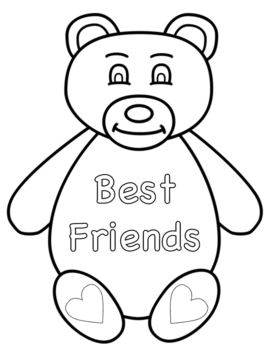 friendship coloring pages watching sunset together on friendship day coloring page pages coloring friendship