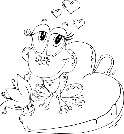 frog on lily pad coloring page frog on heart lily pad coloring page coloringcom pad page on frog coloring lily