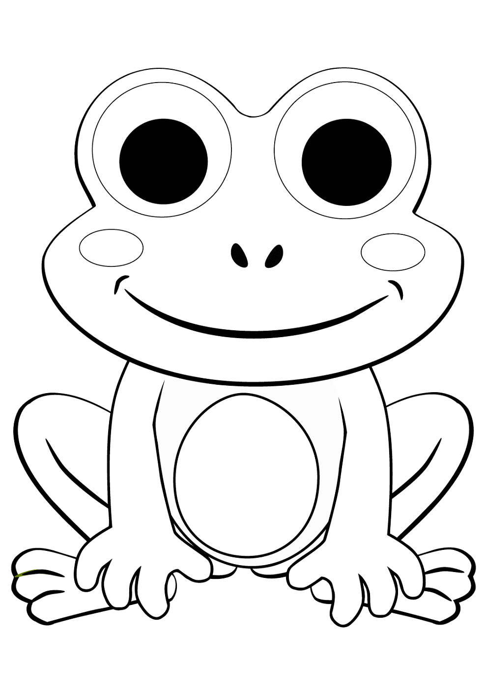 frog to color free printable frog coloring pages for kids frog to color
