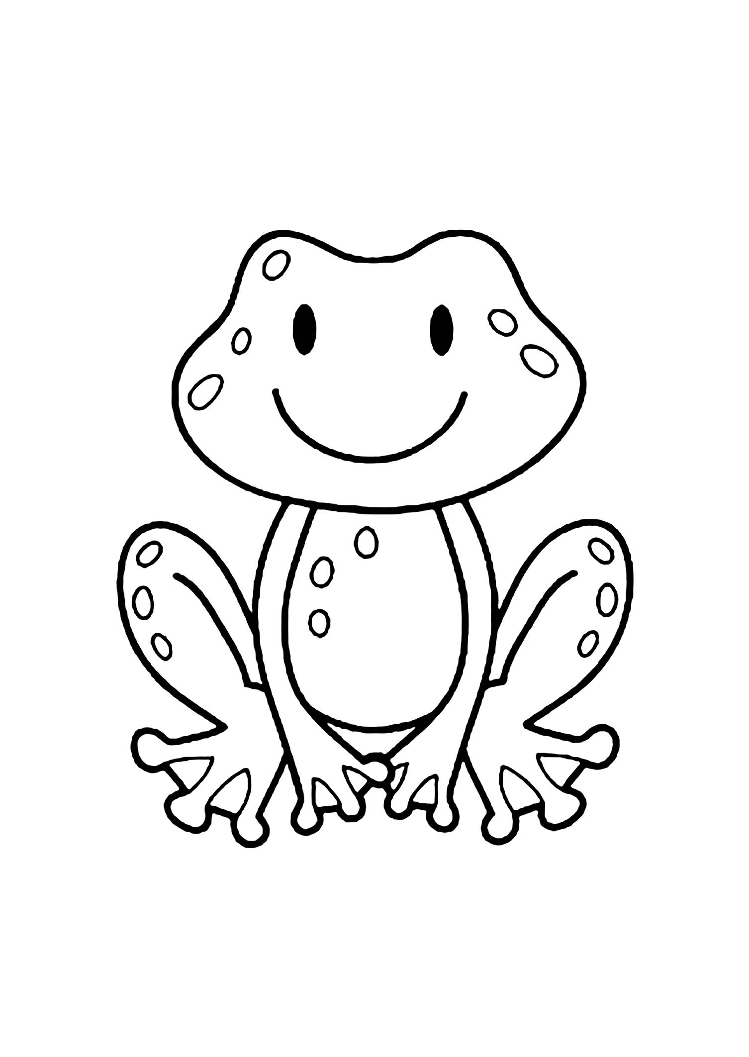 frog to color frog coloring pages to print to frog color