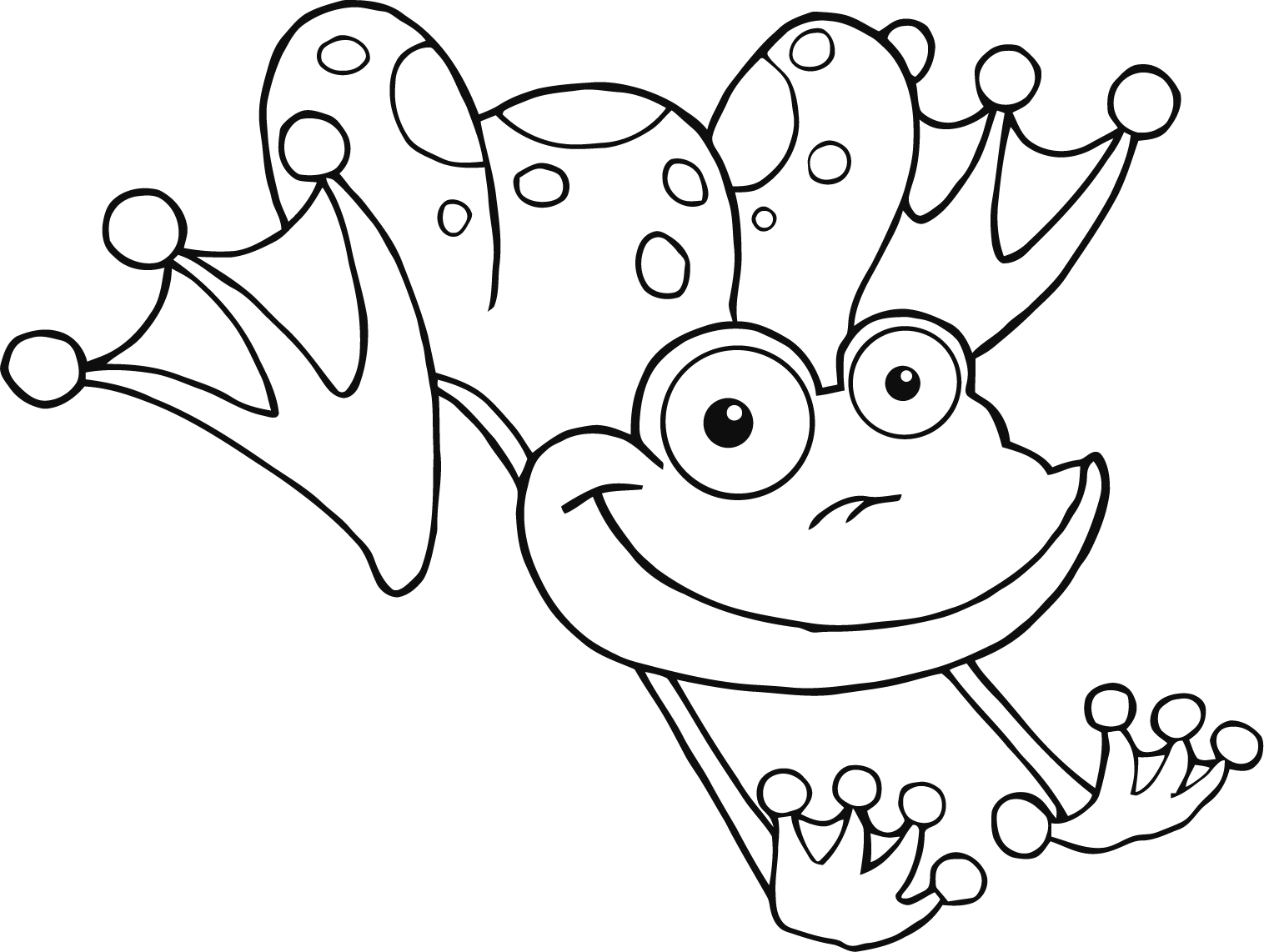 frog to color printable frog coloring pages for kids free printable frog to frog color