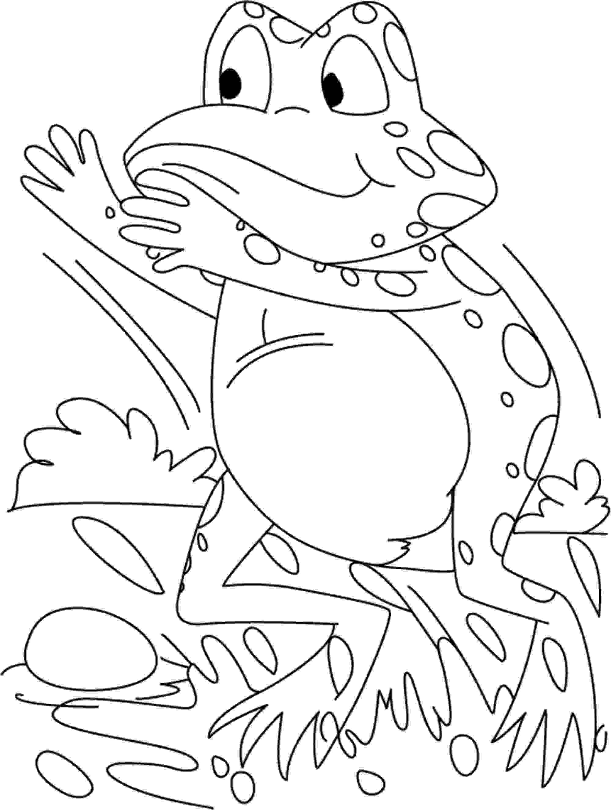 frogs coloring pages exotic frog coloring page to print or download for fkids pages frogs coloring