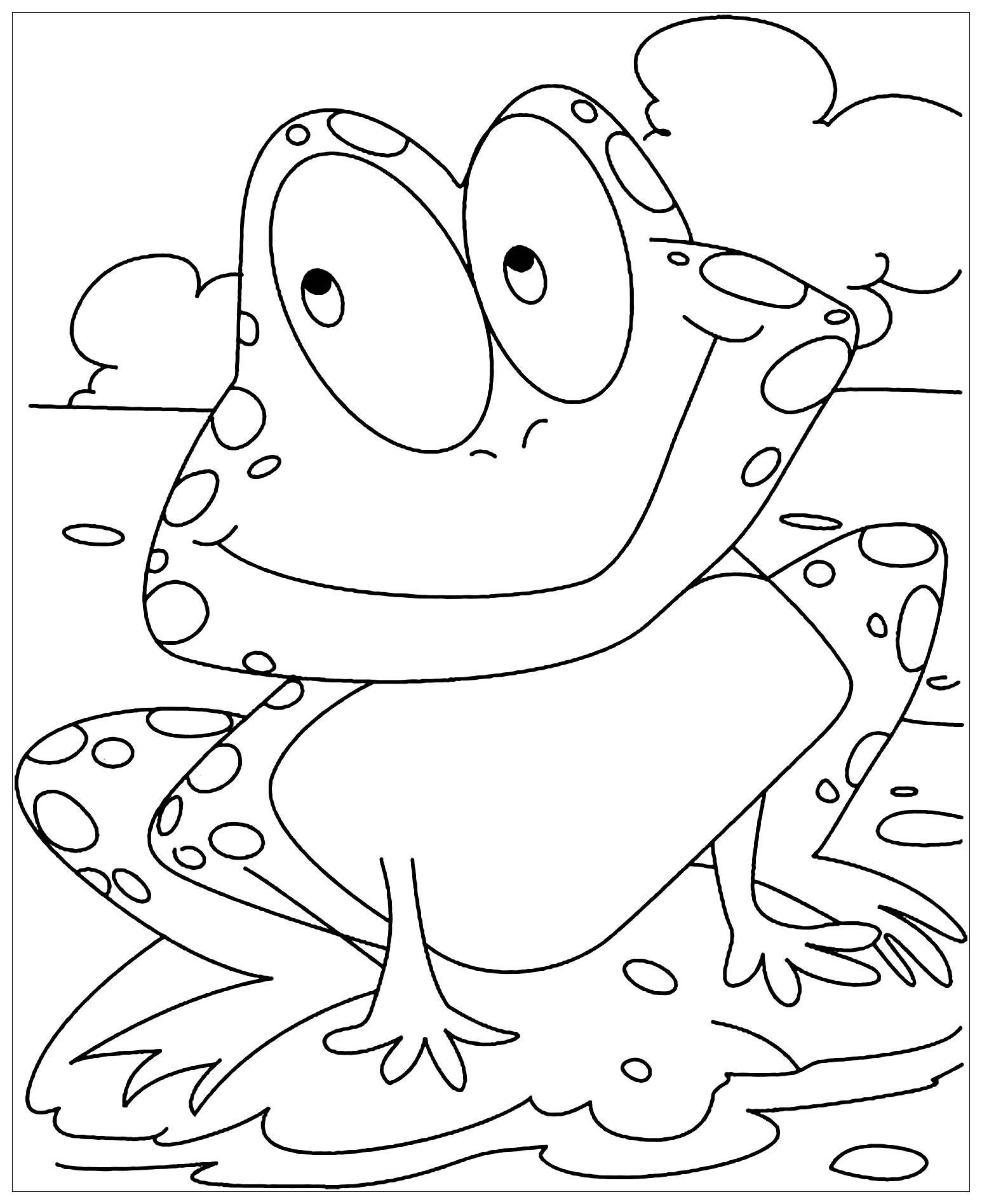 frogs coloring pages print download frog coloring pages theme for kids coloring frogs pages