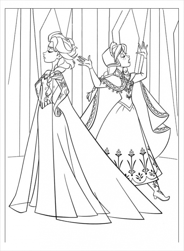 frozen coloring books free 14 frozen coloring pages in ai pdf coloring frozen books