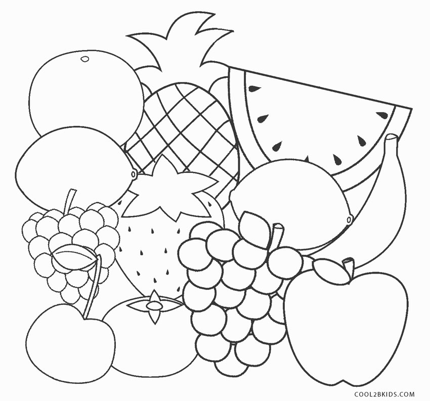 fruit coloring sheet fruit salad coloring pages download and print for free coloring fruit sheet