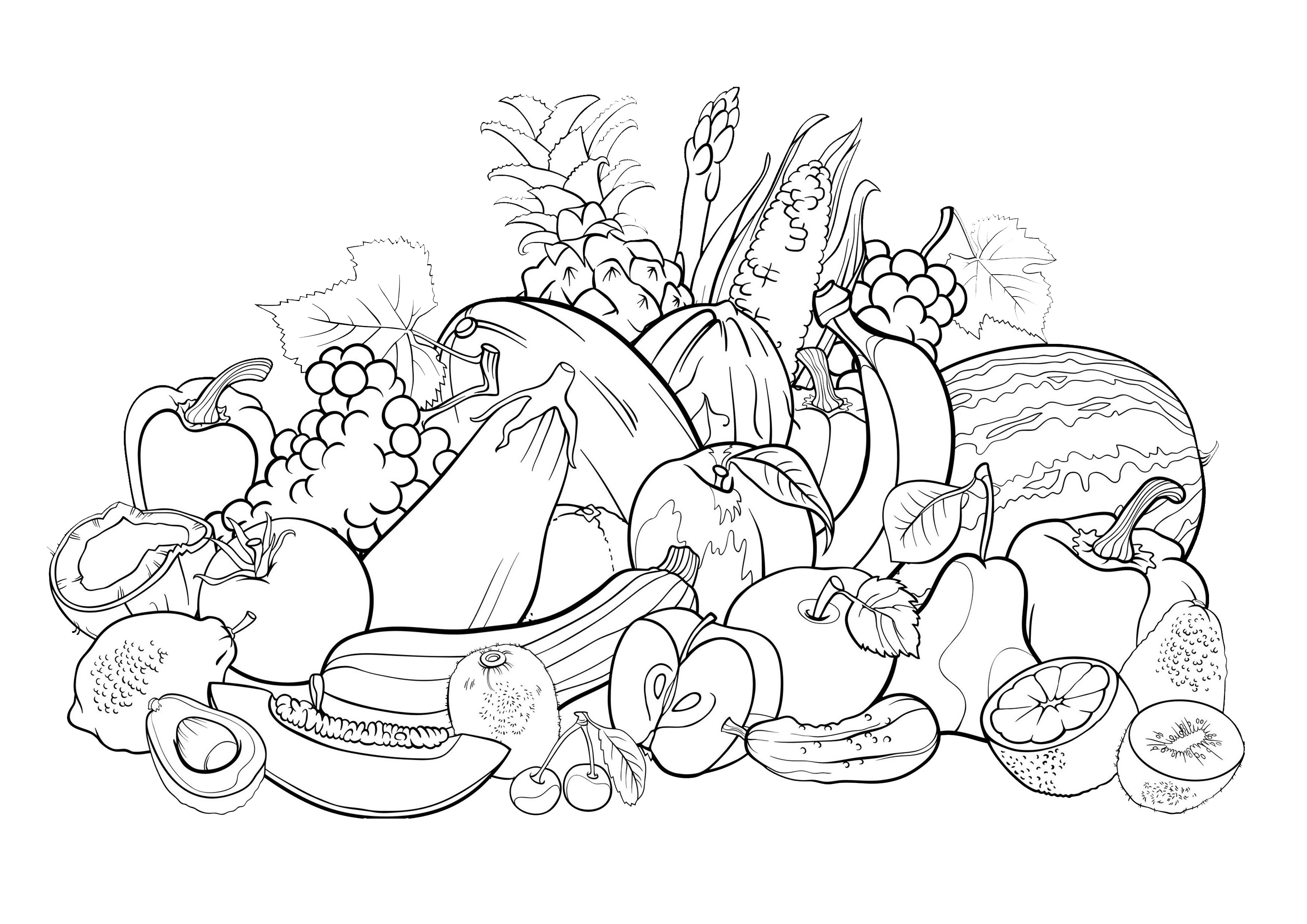 fruit coloring sheet grapes with leaves fruits and berries coloring pages for sheet coloring fruit