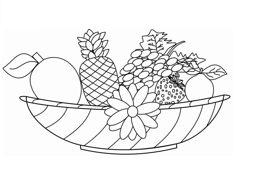 fruit colouring in free printable fruit coloring pages for kids colouring fruit in 1 1