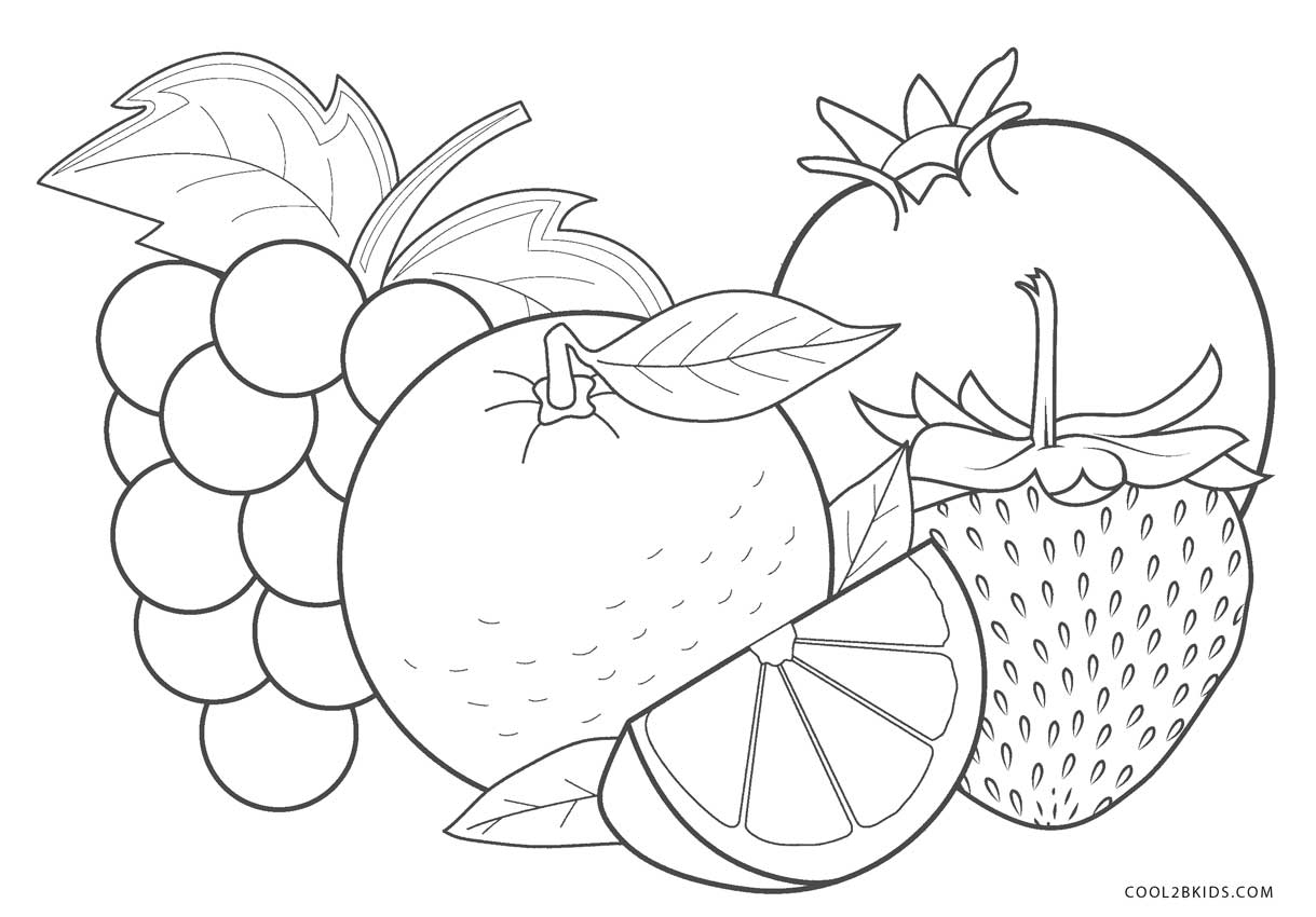 fruit colouring in free printable fruit coloring pages for kids colouring in fruit 1 1