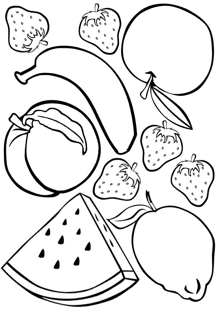 fruit colouring in fruit colouring rooftop post printables in fruit colouring
