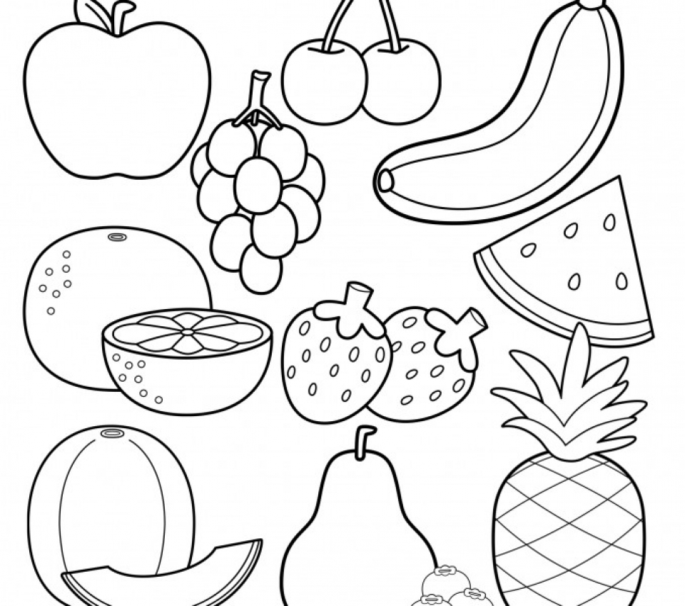 fruit colouring in fruits coloring pages free coloring pages printable for fruit colouring in
