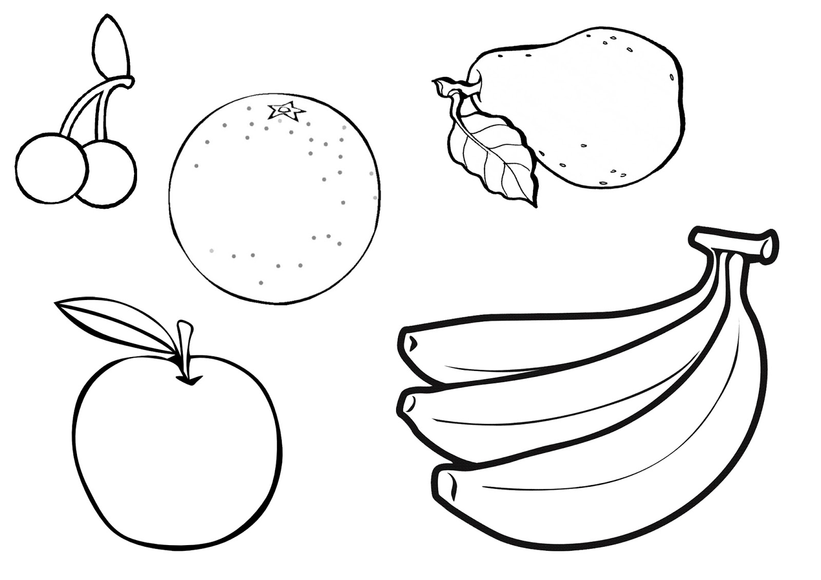 fruit colouring in fruits drawing for colouring at paintingvalleycom fruit colouring in