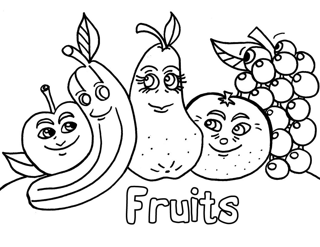 Fruit colouring in