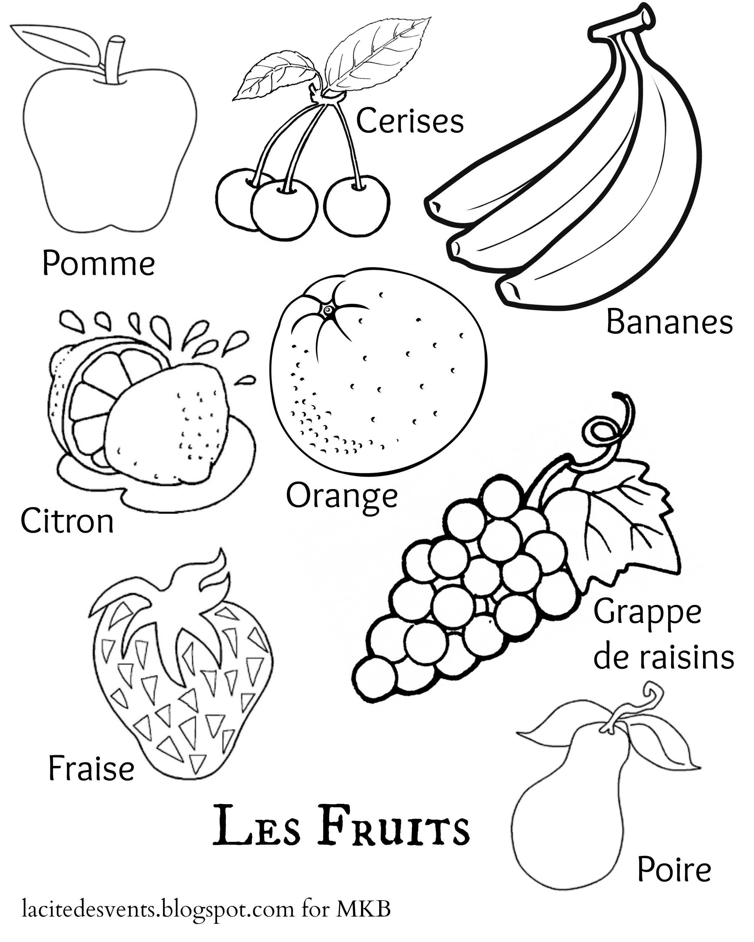 fruit colouring in various types of fruits coloring page kids play color in colouring fruit
